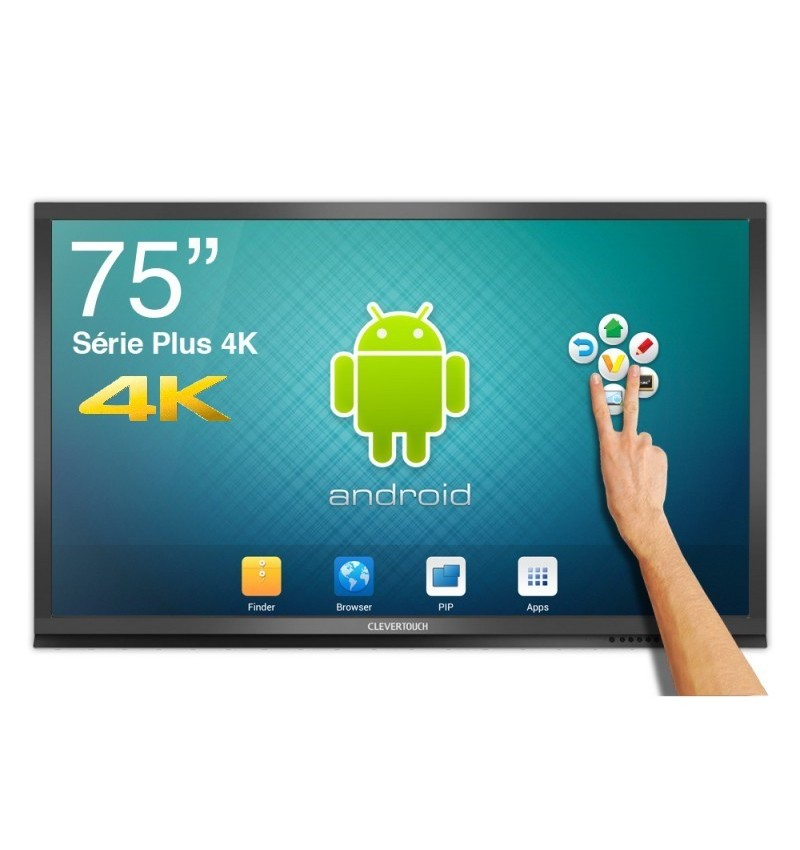 ECRAN TACTILE ANDROID CleverTouch Plus 4K - 75""