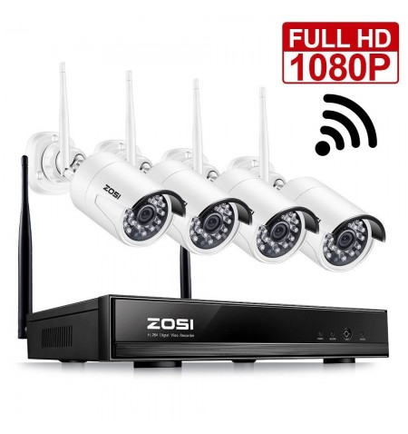 ZOSI 1080P 2MP WIFI NVR 4CH